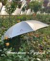Зонт трость, серебристый